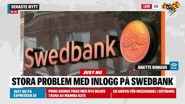 Problem för Swedbanks internetbank