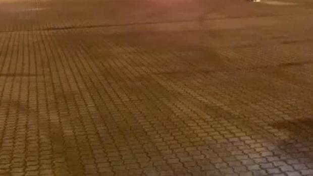 Här brinner HA-männens bil