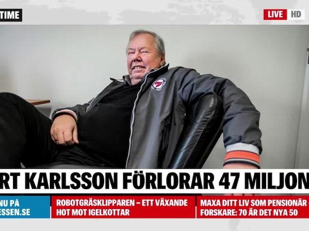 Bert Karlssons bolag har förlorat 47 miljoner
