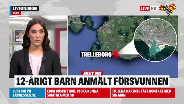 Pojke försvunnen i Trelleborg