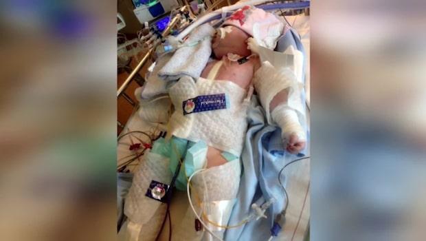 Dottern genomgick hjärttransplantation — nu får familjen hjälp