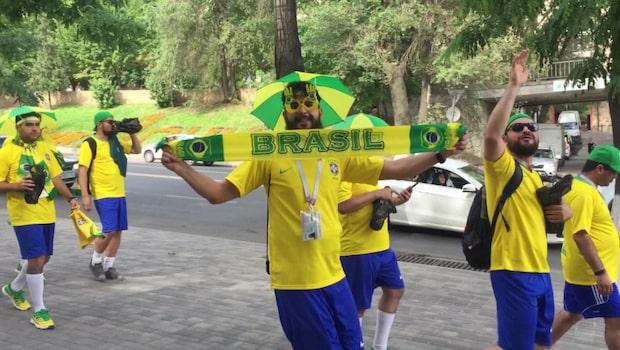 Såhär laddade är brasiliens supportrar inför kvällens match