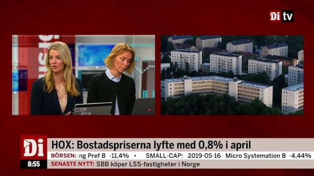 HOX: Bostadspriserna lyfte med 0,8% i april
