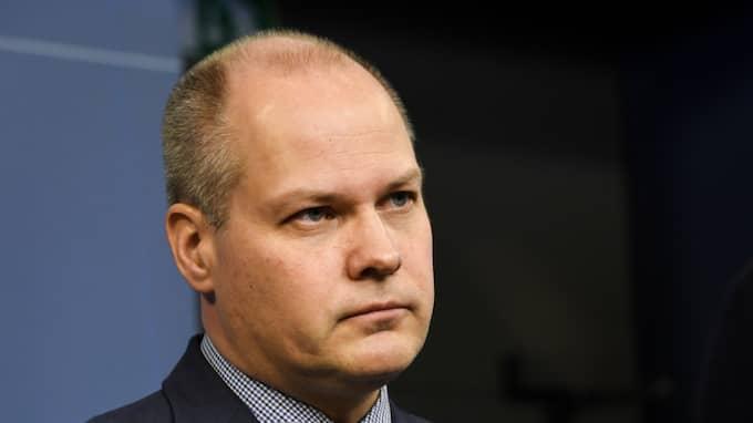 Justitieminister Morgan Johansson säger till SvD att han är beredd att skärpa lagen om barnpornografi. Foto: Jonas Ekströmer/TT