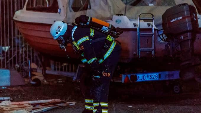Ett stort räddningspådrag skickades till platsen. Foto: MARTIN ERIKSSON / MARTIN FOTOGRAF / 3916 FREELANCER MARTIN FOTOGRAF