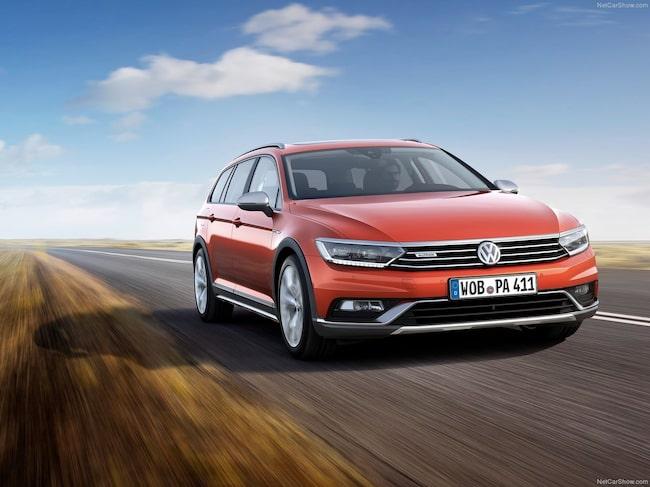 VW hamnar två på listan. Här en Passat Alltrack.