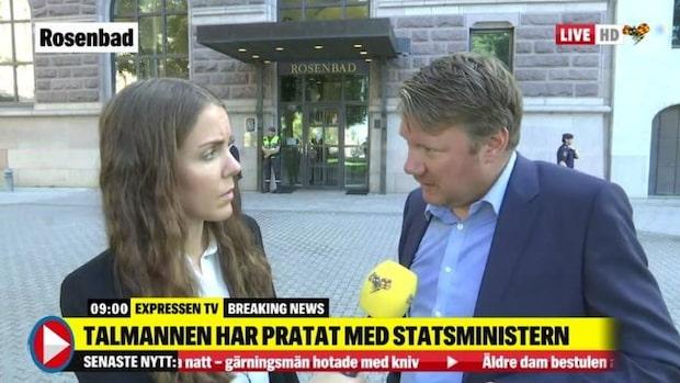 Politikreporter Niklas Svensson om presskonferensen på Rosenbad