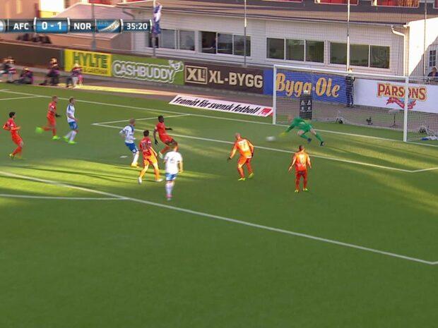 Kalle Holmberg sätter 2-0 för IFK