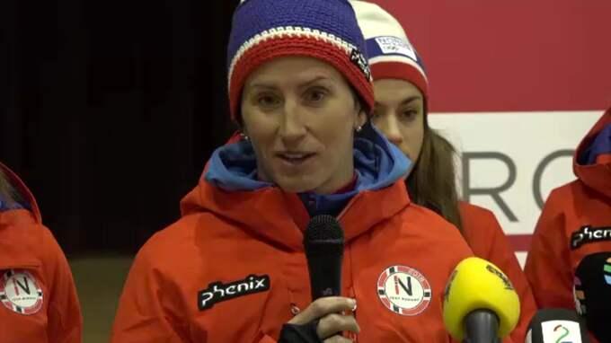 Marit Björgen, en av Kallas största konkurrenter till morgondagens guldmedalj. Foto: PHILIP GADD