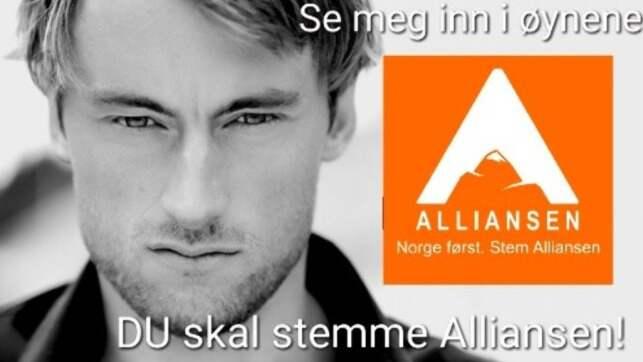 Reklambilden som gjort Petter Northug vansinnig. Foto: Twitter