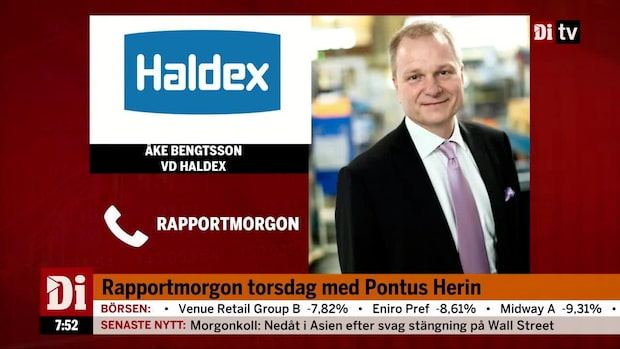 """Vd:n för Haldex om rapporten: """"Vi kom tillbaks i Q1"""""""