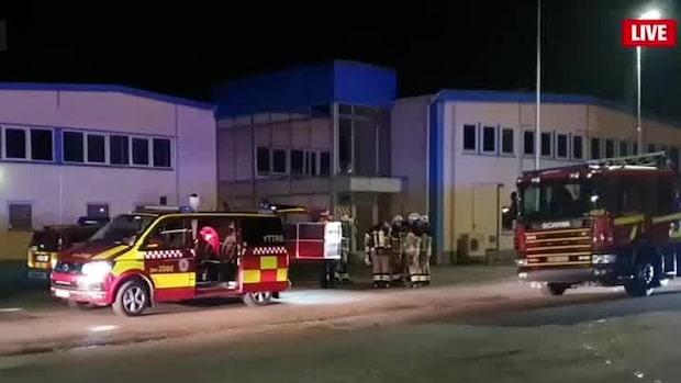 Brand rasar på värmevärk i Landskrona