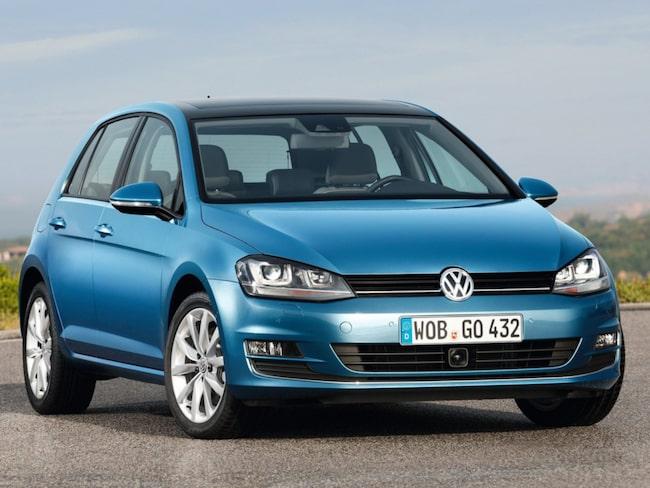 VW Golf är populäraste bilen att privatleasa i Sverige.