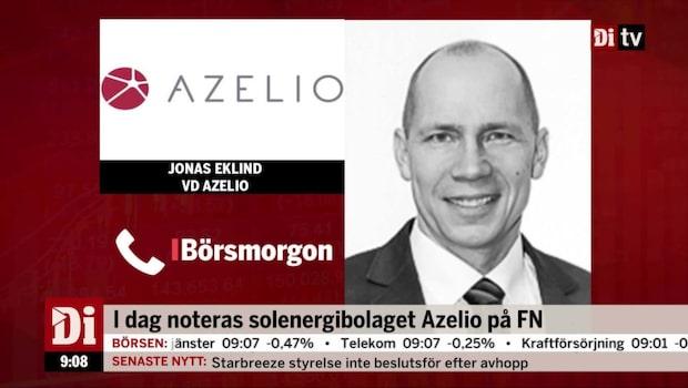 """Azelio till börsen: """"2021 har vi en industriell verksamhet"""""""