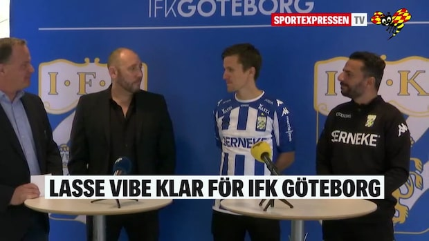 Här presenteras Lasse Vibe för Blåvitt
