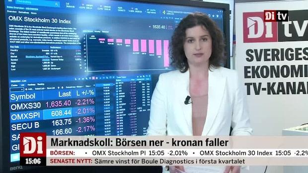 """Marknadskoll 15:00 - """"Kronan når nya bottennivåer"""""""