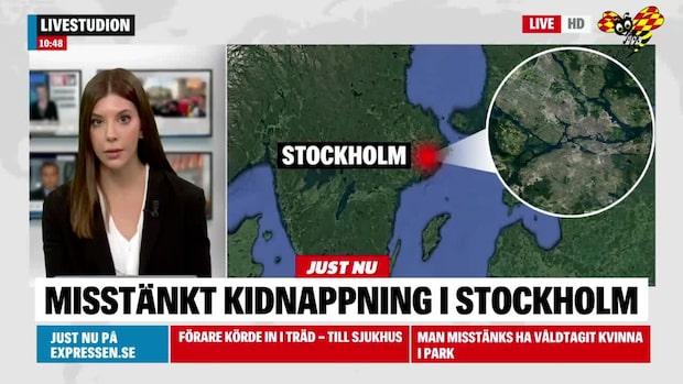 Misstänkt kidnappning i Stockholm