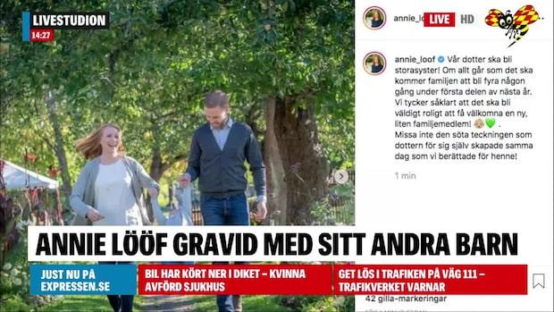 Annie Lööf är gravid – berättar på Instagram