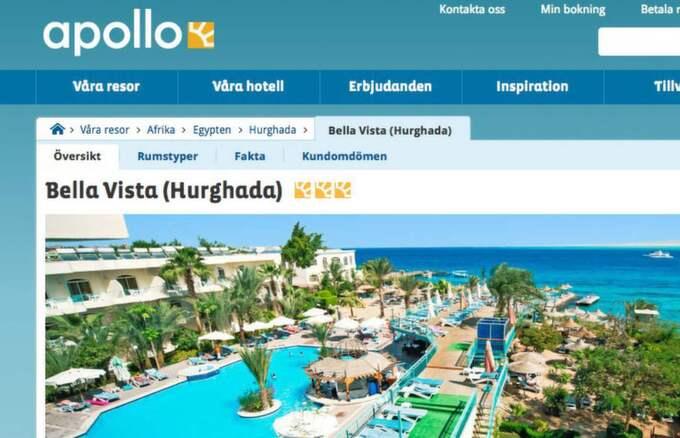 Apollo har 90 skandinaviska gäster på hotellet. Foto: Skärmdump