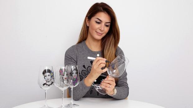 Så enkelt målar du egna vinglas