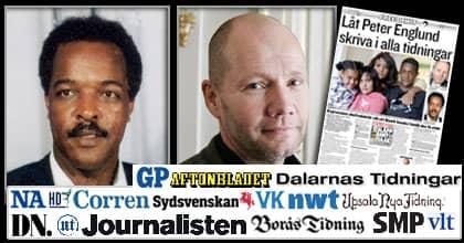 Många svenska tidningar sluter upp i kampen för Dawit Isaak och hans familj. Den 19 november kommer ett stort antal tidningar att publicera en gemensam artikel av Peter Englund, ständig sekreterare i Svenska Akademien. Foto: Privat/Stefan Forsell
