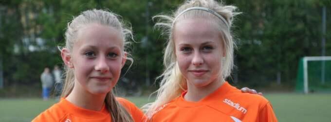 Bele Barkarbys målskyttar Agnes Karlén (0-1) och Julia Envall (1-2). Foto: Angelica Riggo Ringstrand