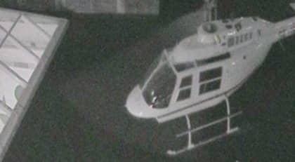 Rånarnas helikopter misstänks ha flugit lågt för att undvika att upptäckas av radar. Foto: Polisen