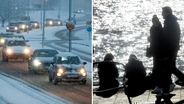 """Snö och regnrusk – men då är värmen tillbaka: """"Över 20 grader"""""""