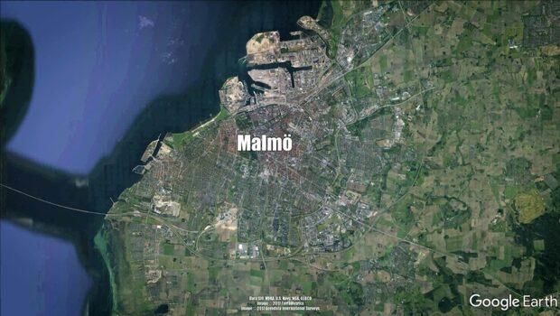 Explosion i trapphus i Malmö