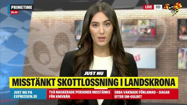 Misstänkt skottlossning i Landskrona