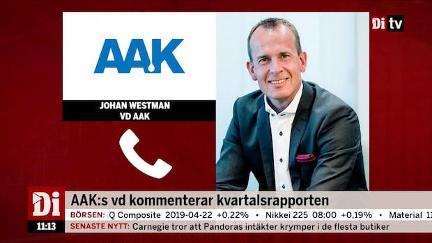 """AAK:s vd om kvartalet: """"Vi inleder året med en ökad vinst"""""""