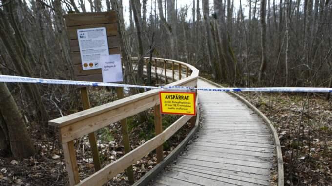 Mannen hittades död utomhus i anslutning till ett naturreservat Alingsås. Foto: Henrik Jansson