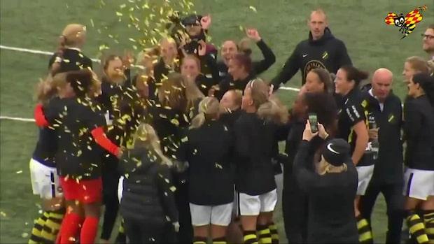 Glädjescener efter slutsignalen – AIK klara för damallsvenskan