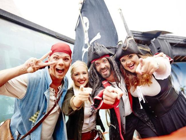 Äventyrspark och pirater väntar på Daftö camping.