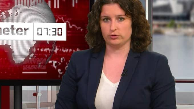 Emelie Lundgren programleder dagens nyhetssvep.