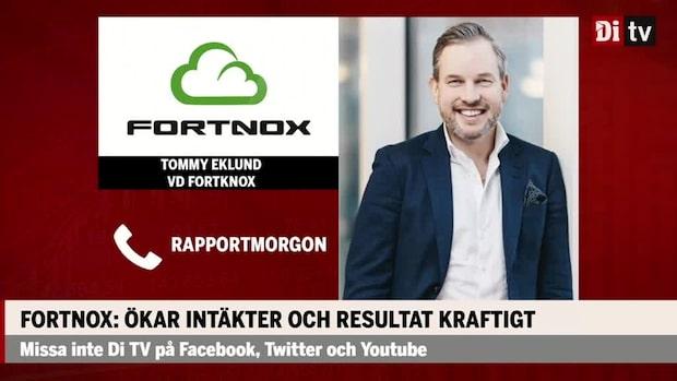 """Tommy Eklund vd Fortnox: """"Börjar komma upp på normala nivåer igen"""""""