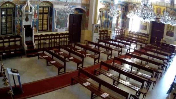 Filmar explosionen –inifrån kyrkan