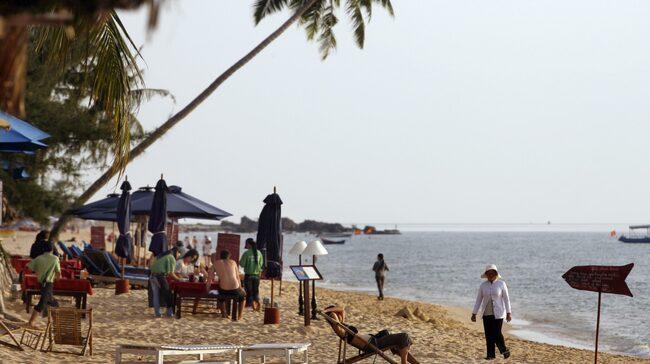 Strand i Vietnam.