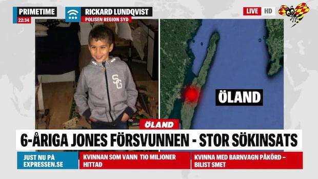 Jones, 6, försvunnen –stor sökinsats på Öland