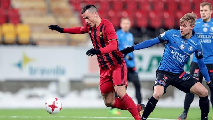Dino Islamovic behövde bara nio minuter för att göra mål på sitt gamla lag. Foto: TOBIAS NYKÄNEN / BILDBYRÅN