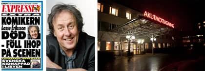 Komikern och skådespelaren Lasse Eriksson blev 61 år gammal.