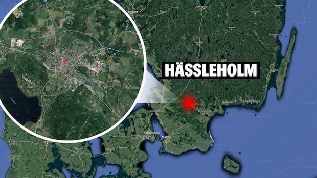 Två skjutna i Hässleholm – massiv polisinsats
