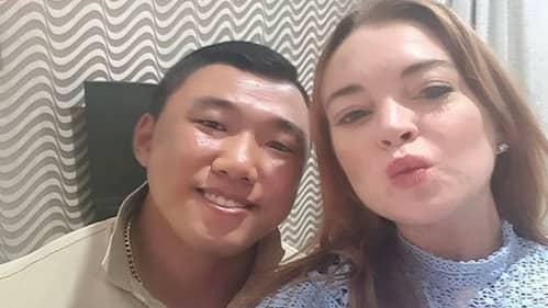 Lindsay Lohan och Je-yong Ha Foto: INSTAGRAM