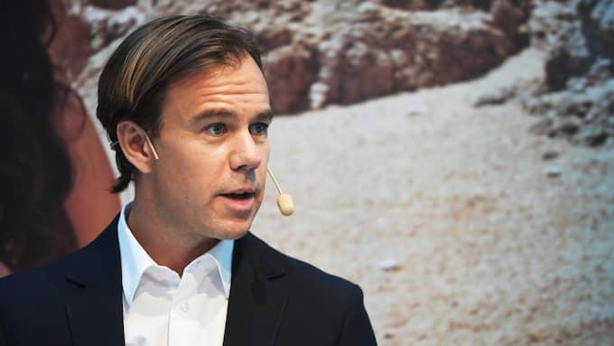 Karl-Johan Persson, H&M:s vd, meddelar att man inte längre kommer att publicera försäljningsutveckling månad för månad. Foto: HENRIK MONTGOMERY/TT NYHETSBYRÅN