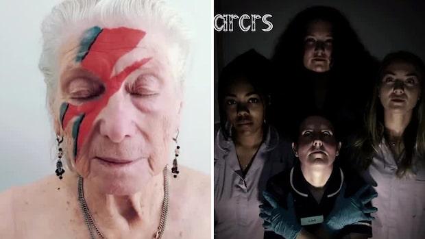 Äldreboende återskapar kända skivomslag med de boende