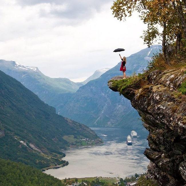 Norge var en av hennes drömdestinationer.