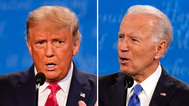 Se hela debatten mellan Donald Trump och Joe Biden