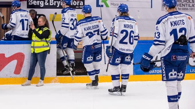 Leksand föll i direktkvalet mot Mora. Foto: DANIEL ERIKSSON / BILDBYRÅN
