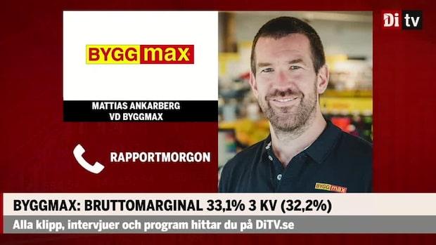 """Mattias Ankarberg vd Byggmax: """"Konsumentmarknaden har gått starkt i år"""""""