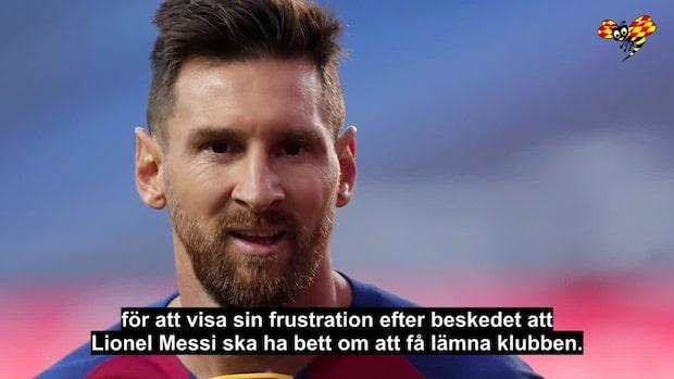 Lionel Messi vill lämna Barcelona